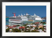 Framed Antigua, St Johns, Heritage Quay, Cruise ship area