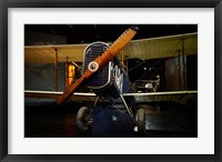 Framed De Havilland DH4 biplane, War plane, New Zealand
