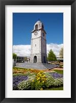 Framed Memorial Clock Tower, Seymour Square, Marlborough, South Island, New Zealand (vertical)