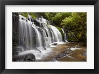 Framed Purakaunui Falls, Catlins, South Otago, South Island, New Zealand