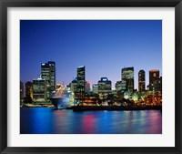 Framed Skyline and Cruise Ship at Night, Sydney, Australia