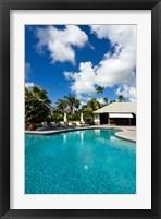 Framed Carlisle Bay Hotel, Antigua, West Indies, Caribbean