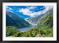 Framed New Zealand, South Island, Westland NP, Frans Joseph Glacier