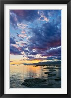 Framed New Zealand, South Island, Kaikoura, South Bay Sunset