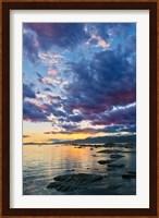 Framed New Zealand, South Island, Kaikoura, South Bay Sunset