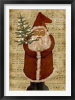 Framed Old Time Santa