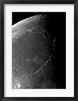 Framed Craters Copernicus, Plato, Eratosthenes, and Archimedes near the Montes Apenninus Mountain Range