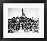 Framed Colonel Theodore Roosevelt and The Rough Riders