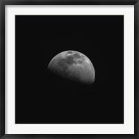 Framed Gibbous Moon