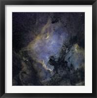 Framed North America Nebula and the Pelican Nebula