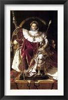 Framed Napoleon Bonaparte (restored)