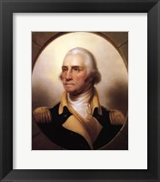 Framed George Washington (digitally restored)