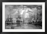 Framed US Naval Ships during the Civil War