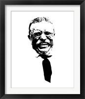 Framed Vector Portrait of Theodore Roosevelt smiling