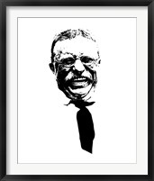 Framed Vector Portrait of Theodore Roosevelt smiling