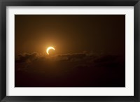 Framed Partial Solar Eclipse