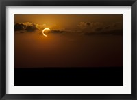 Framed Annular Solar Eclipse in Clouds