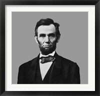 Framed President Abraham Lincoln (digitally restored)