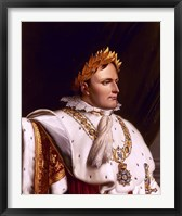 Framed Napoleon Bonaparte (side profile)