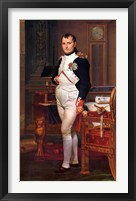 Framed Napoleon Bonaparte (digitally restored)
