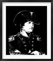 Framed Napoleon Bonaparte in uniform