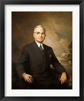 Framed Harry S Truman (color portrait)