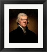 Framed President Thomas Jefferson