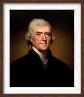 Framed President Thomas Jefferson