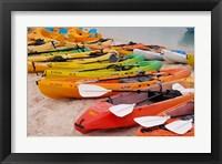 Framed Bahamas, Eleuthera, Princess Cays, beach kayaks