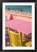 Framed Colorful Cafe Chairs at Compass Point Resort, Gambier, Bahamas, Caribbean
