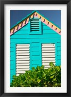 Framed Colorful Cottage at Compass Point Resort, Gambier, Bahamas, Caribbean
