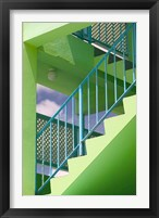 Framed Hotel Staircase (vertical), Rockley Beach, Barbados