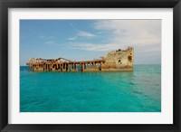 Framed Cement shipwreck, Barnett Harbour, Bahamas