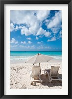 Framed Carib Beach Barbados, Caribbean