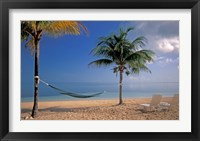 Framed Beach Scene at The Inn at Bahama Bay, Grand Bahama Island, Caribbean