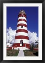Framed Candystripe Lighthouse, Elbow Cay, Bahamas, Caribbean