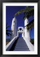 Framed St Peter Catholic Church, Long Island, Bahamas, Caribbean