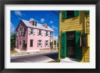 Framed Colorful Loyalist Home, Governor's Harbour, Eleuthera Island, Bahamas