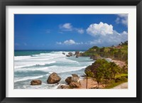 Framed Rocky coastline, Barbados at Bathsheba