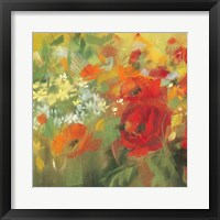 Framed Oriental Poppy Field II