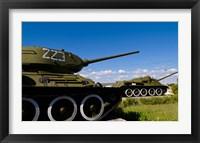 Framed Tanks, Museum of Playa Giron war, Bay of Pigs Cuba