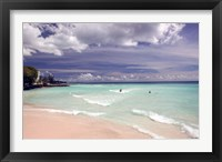 Framed View of Dover Beach, Barbados, Caribbean