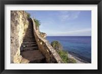 Framed 1,000 Steps Limestone Stairway in Cliff, Bonaire, Caribbean