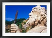 Framed Statue of Neptune in Bermuda Maritime Museum, Royal Naval Dockyard, Bermuda, Caribbean