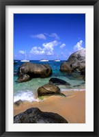 Framed Baths of Virgin Gorda, British Virgin Islands, Caribbean