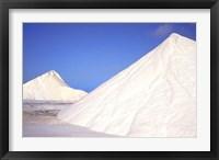 Framed Mountains of Salt, Bonaire, Caribbean