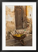 Framed Bananas in wheelbarrow, Havana, Cuba