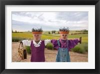 Framed Scarecrows at a lavendar farm in SE Washington