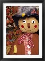 Framed Stuffed Scarecrow on Display at Halloween, Washington