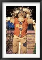 Framed Scarecrow in Suburban Yard at Halloween, Logan, Utah